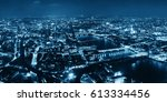 london aerial view panorama at... | Shutterstock . vector #613334456