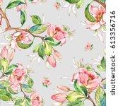 watercolor seamless pattern of... | Shutterstock . vector #613356716