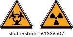 vector of caution and hazard... | Shutterstock .eps vector #61336507