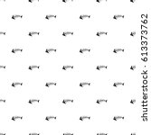 seamless pattern with the black ... | Shutterstock .eps vector #613373762