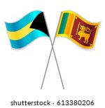 bahamian and sri lankan crossed ... | Shutterstock .eps vector #613380206