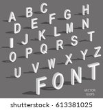 isometric letters with falling... | Shutterstock .eps vector #613381025