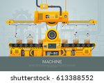 machine and manufacture... | Shutterstock .eps vector #613388552