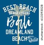 best beach bali dreamland... | Shutterstock .eps vector #613393028