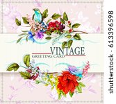 Greeting Vintage Card With...