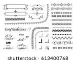 vector set of different... | Shutterstock .eps vector #613400768