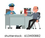 the victim describes the... | Shutterstock .eps vector #613400882