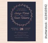 modern navy blue and rose gold... | Shutterstock .eps vector #613410542