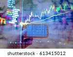 investment growth concept with... | Shutterstock . vector #613415012