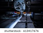 close up cnc milling machine... | Shutterstock . vector #613417676
