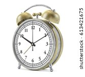 old style alarm clock isolated... | Shutterstock . vector #613421675