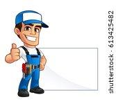 vector illustration of an... | Shutterstock .eps vector #613425482