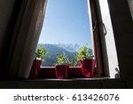 view through the window   Shutterstock . vector #613426076