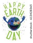 happy earth day. illustration ...   Shutterstock .eps vector #613428365