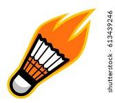 badminton sport shuttlecock... | Shutterstock .eps vector #613439246