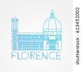 the cattedrale di santa maria... | Shutterstock .eps vector #613452002