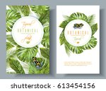 vector tropical vertical... | Shutterstock .eps vector #613454156