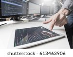 developing programming and... | Shutterstock . vector #613463906