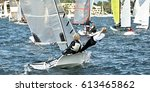 combined high school sailing... | Shutterstock . vector #613465862