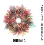 big data visualization.... | Shutterstock .eps vector #613472552