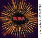 big data visualization.... | Shutterstock .eps vector #613472582