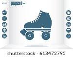 vector illustration of roller... | Shutterstock .eps vector #613472795