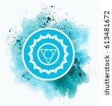 blue chakra symbol   Shutterstock . vector #613481672