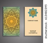 visiting card and business card ... | Shutterstock .eps vector #613482395