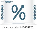 percent icon vector...   Shutterstock .eps vector #613483295