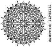 indian hand drawn mandala.... | Shutterstock .eps vector #613485182