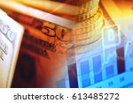 one hundred dollar bill.... | Shutterstock . vector #613485272
