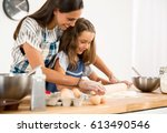 shot of a mother and daughter...   Shutterstock . vector #613490546