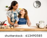 shot of a mother and daughter... | Shutterstock . vector #613490585