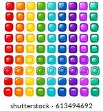 bright cartoon rainbow vector... | Shutterstock .eps vector #613494692