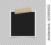 retro realistic vector photo... | Shutterstock .eps vector #613501022