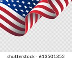 waving flag of the united... | Shutterstock .eps vector #613501352