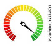 speedometer dial vector icon... | Shutterstock .eps vector #613510766