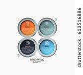 four multicolored circular... | Shutterstock .eps vector #613516886
