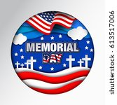 memorial day.  | Shutterstock .eps vector #613517006