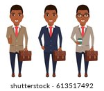 young businessman in a suit.... | Shutterstock .eps vector #613517492