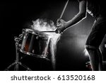 Man Plays Musical Percussion...