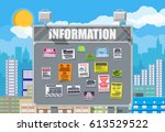 various tear off papers ad on... | Shutterstock .eps vector #613529522