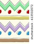 abstract zig zag lines and dots ... | Shutterstock .eps vector #613532072