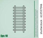 rail road icon | Shutterstock .eps vector #613537046