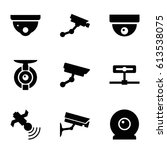 surveillance icons set. set of... | Shutterstock .eps vector #613538075