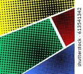 colored halftone pop art retro... | Shutterstock .eps vector #613541342