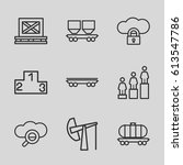 platform icons set. set of 9... | Shutterstock .eps vector #613547786