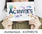 activities freetime hobbies...   Shutterstock . vector #613548176