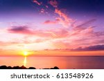 magnificent view bright... | Shutterstock . vector #613548926