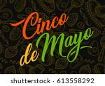 cinco de mayo hand sketched... | Shutterstock .eps vector #613558292